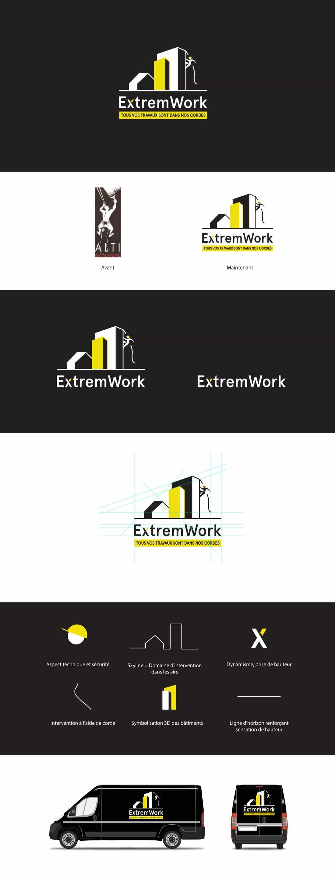extremwork logo et identité visuelle