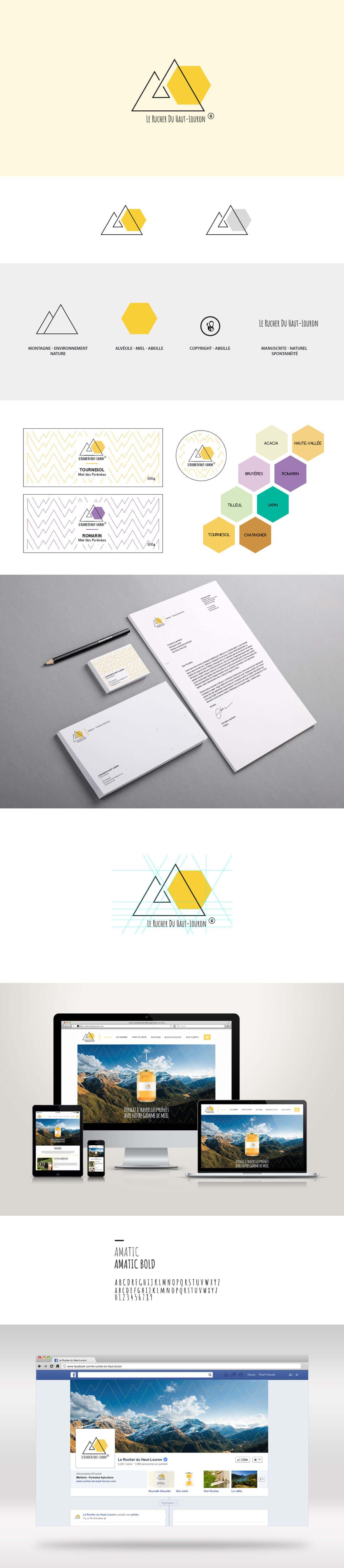 branding et identité visuelle d'une marque de miel