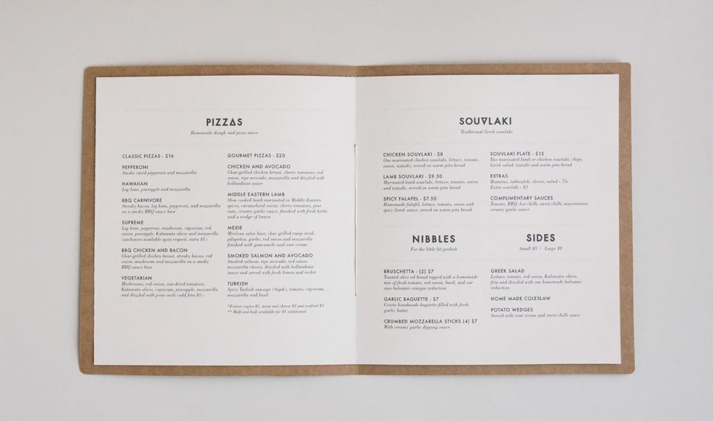 menu restaurant design nantes communication