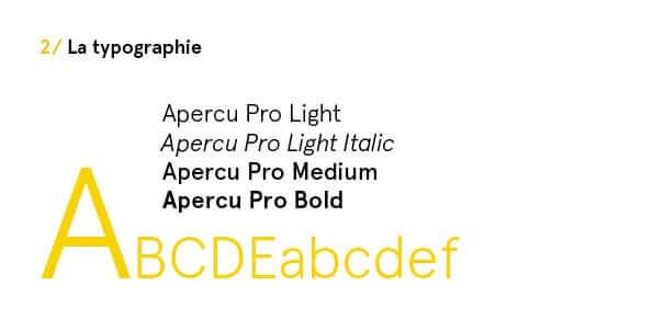 charte graphique typographie