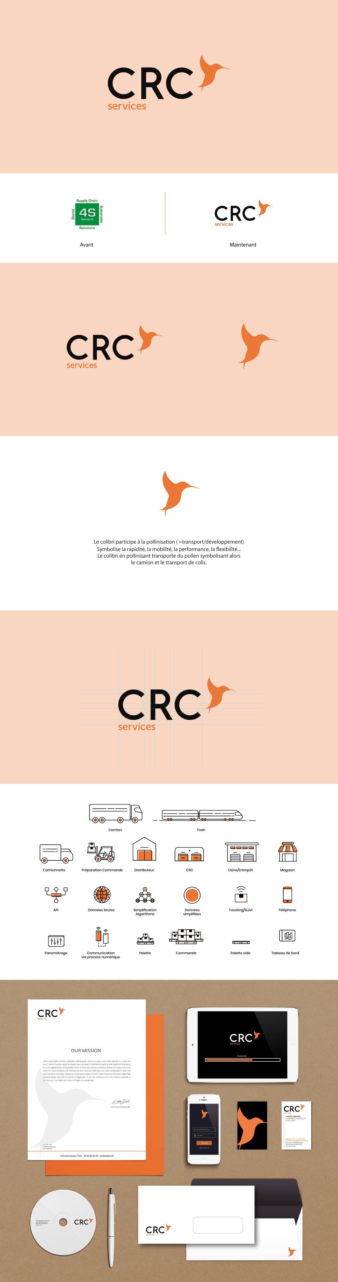 création identité visuelle de la startup crc services