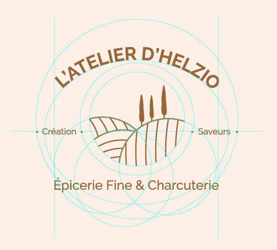 communication et branding de l'épicerie fine l'atelier d'helzio