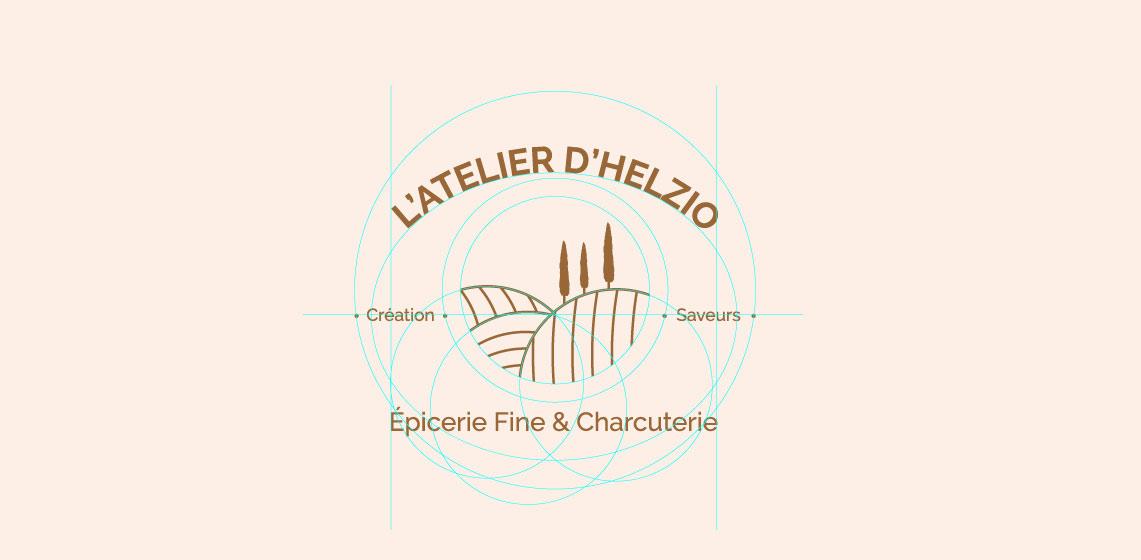 construction d'un logo et d'un branding pour une épicerie en ligne (site e-commerce)