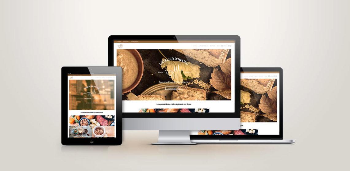 site e-commerce d'une épicerie en ligne