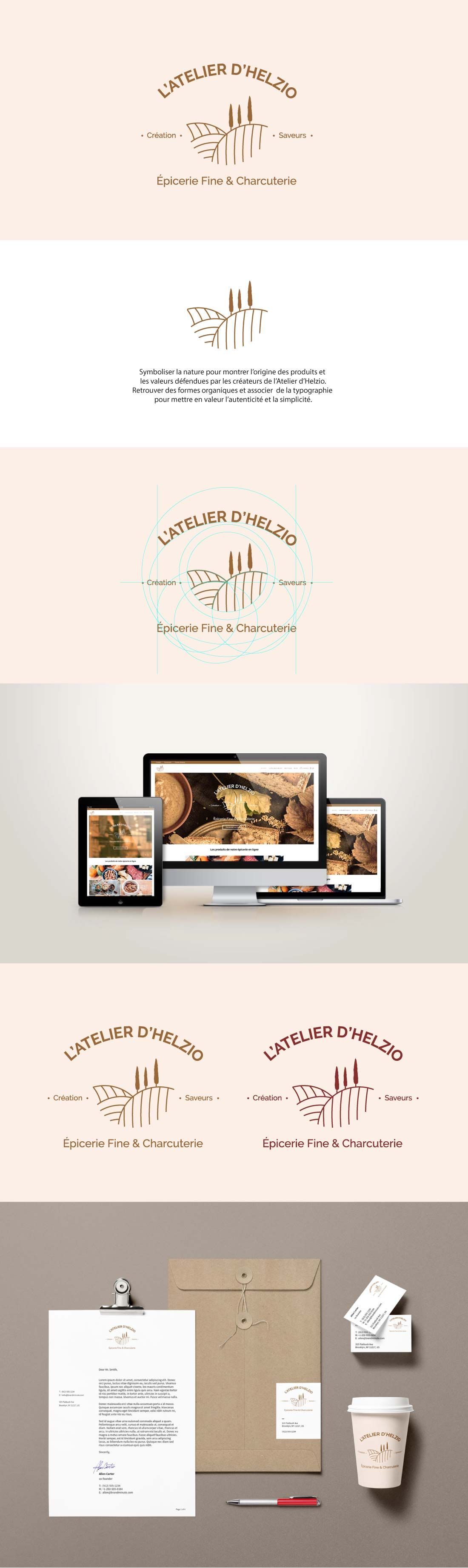 création identité visuelle d'une épicerie en ligne et mise en place d'une solution e-commerce